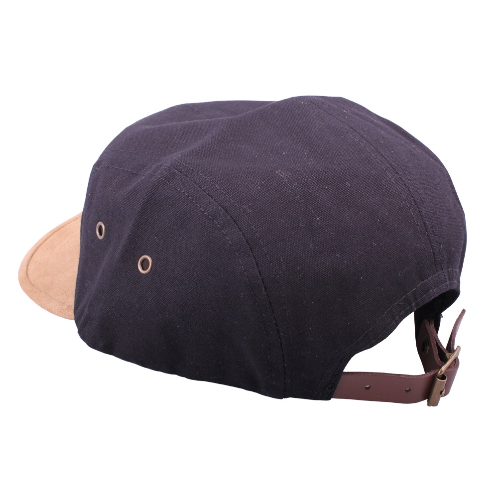 4f8fd5226c1 Thebikebros BADGE 5 Panel hat Black