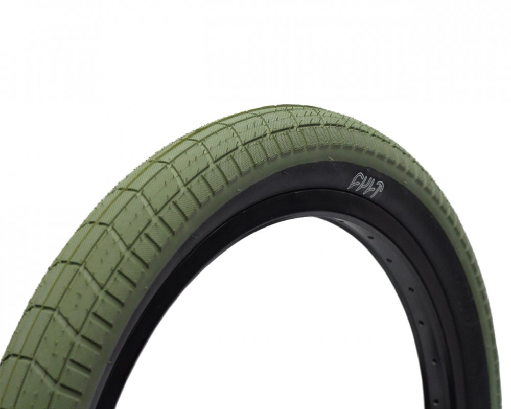 38dc03238cf Cult DEHART TREAD Tyre Olive Green  Black Wall