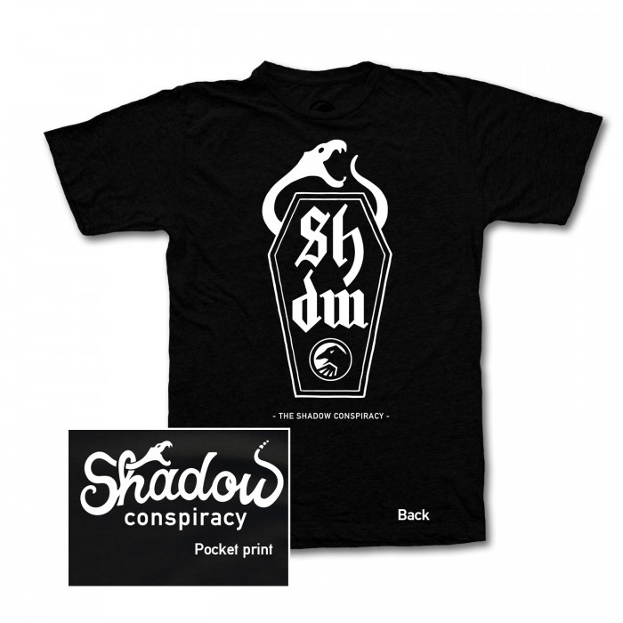 Shadow serpent t shirt black for Fast delivery custom t shirts
