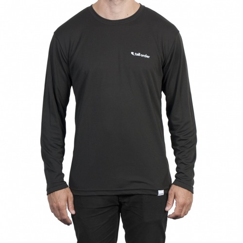 Tall Order LOGO breathe-tech long sleeve t-shirt Black