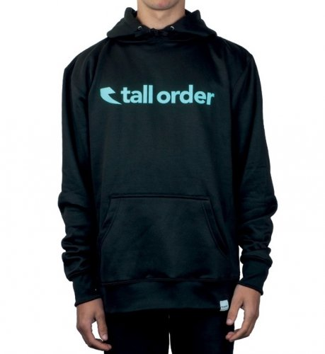 Tall Order FONT LOGO Poly-Tech Hoodie Black/Teal
