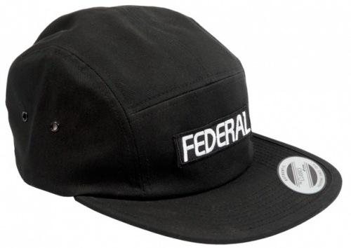 60d11fc1d65 Federal LOGO 5 Panel Hat Black
