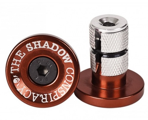 Shadow Deadbolt Bar Ends Crimson Red