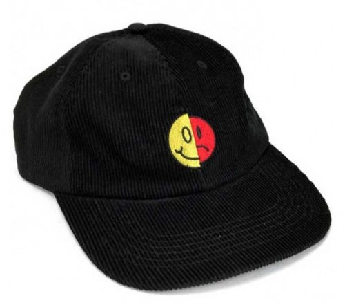 Cult ANXIETY 6 Panel Hat Black Corduroy