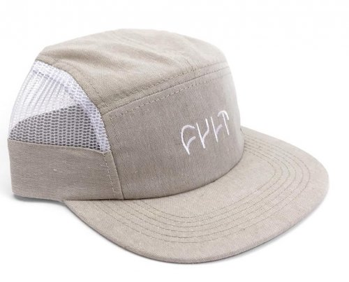 Cult LOGO 5 Panel Camper Hat Khaki