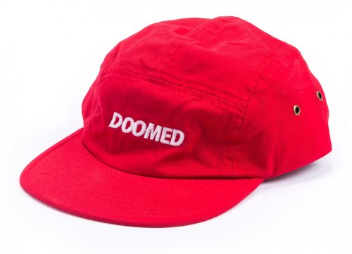 Doomed REDWOOD 5 Panel Cap Red