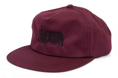 Subrosa CARVED Snapback Hat Maroon
