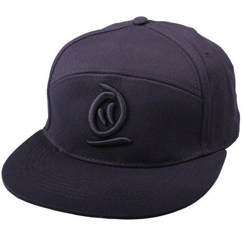 Thebikebros 3D LOGO 5 Panel Hat Black