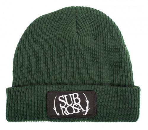 Subrosa BOLD PATCH Beanie Hunter Green
