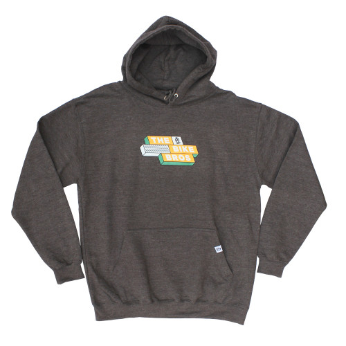 Thebikebros SQUARES Hoodie Charcoal