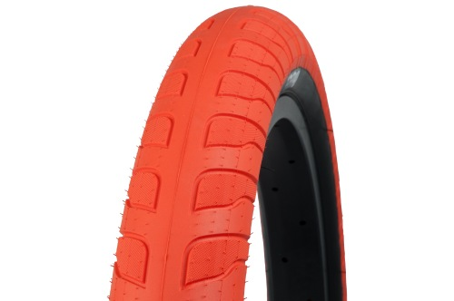 "Federal RESPONSE 2.50"" Tyre Orange/ Black Wall"