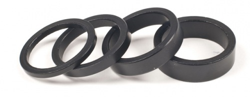 Salt Alu Headset Spacers Black