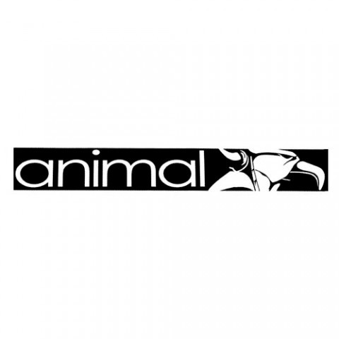 Animal STREET Sticker Black
