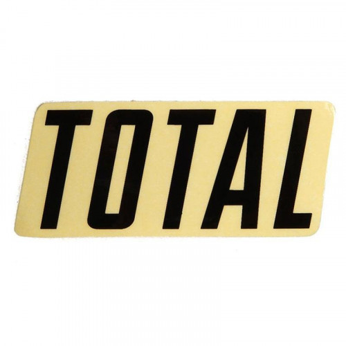 Total NEW STYLE LOGO Sticker Black