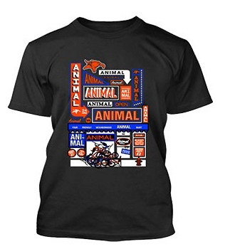 Animal MART T-Shirt Black