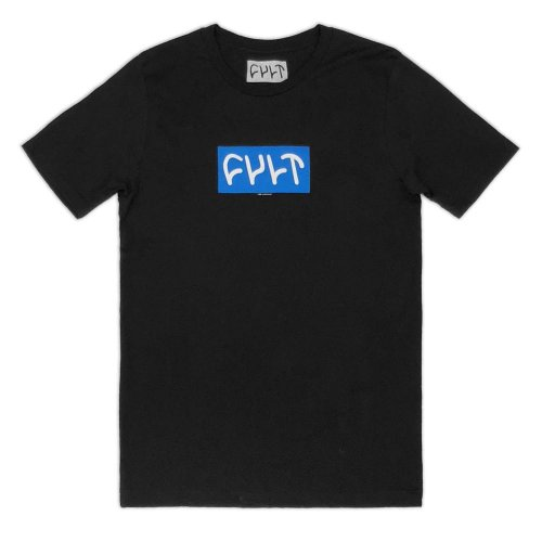 Cult BLUE LOGO 18 T-shirt Black