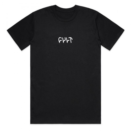 Cult EMBROIDERED LOGO T-Shirt Black