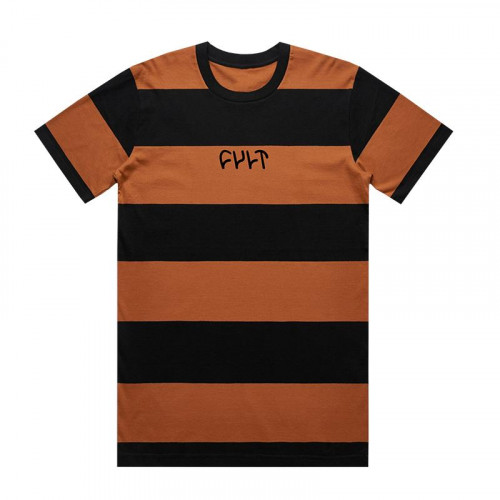 Cult WIDE STRIPE T-Shirt Copper