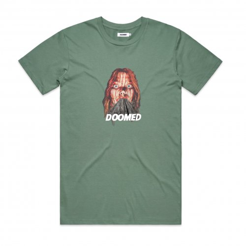 Doomed CARRIE T-Shirt Army Green