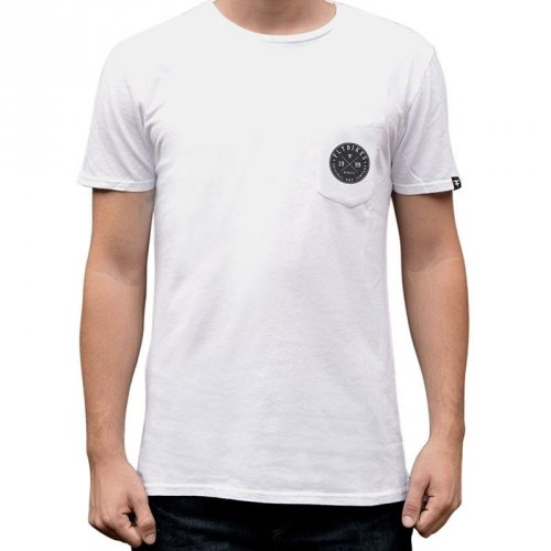 Flybikes COLLEGE POCKET T-Shirt White