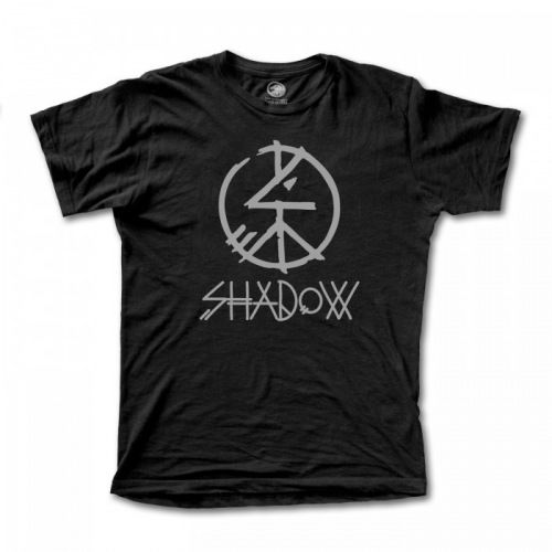 Shadow peace t shirt black for Fast delivery custom t shirts