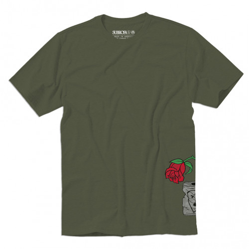 Triko Subrosa TRASHED CAN Army Green
