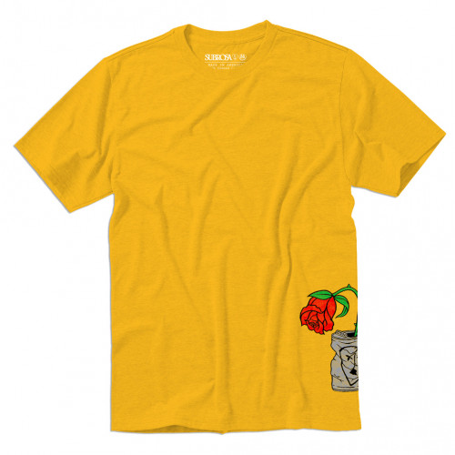 Subrosa TRASHED CAN T-Shirt Gold