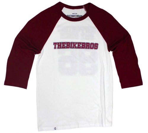 Thebikebros HOCKEY T-Shirt White/ Maroon