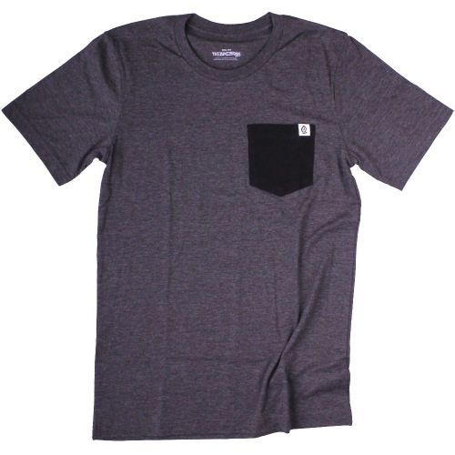 Thebikebros POCKET T-shirt Dark Grey/ Black