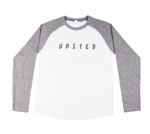 United BASEBALL Longsleeve T-Shirt Grey