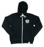 Federal ZIP UP LOGO Hoodie Black