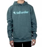 Tall Order FONT LOGO Poly-Tech Hooded Sweatshirt Grey/Teal