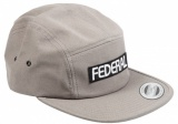 Federal LOGO 5 Panel Hat Grey