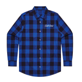 Cult SCRIPT FLANNEL Shirt Blue