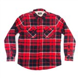 Doomed PAID LAD Flannel Shirt Red/Black