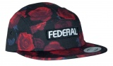 Federal LOGO 5 Panel hat Black/Rose