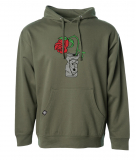 Subrosa TRASHED CAN Hoodie Army Green
