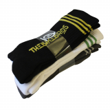 Thebikebros STRIPE LOGO 3-Pack Socks Black/Grey/White
