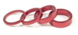 Salt Alu Headset Spacers Red