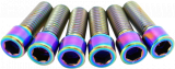 TLC Bikes Titanium Stem Bolts Rainbow