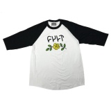 Cult IN BLOOM 3/4 T-Shirt White/Black