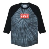 Cult LOGO 18 3/4 T-shirt Grey Tie Dye/ Black