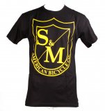 S&M BIG SHIELD T-Shirt Black/Yellow
